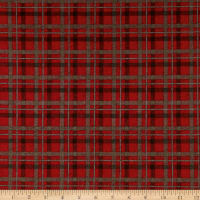 Rustic Charm Flannel Plaid Red