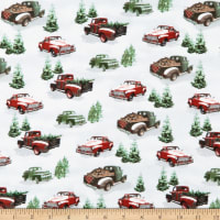 Rustic Charm Flannel Allover Pick-up Trucks Gray/Multi