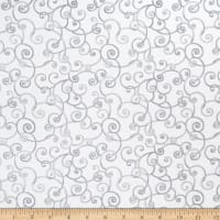 Modern Movement Whimsy Scroll Metallic White/Gray
