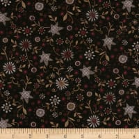Itty Bitty Allover Flower Black