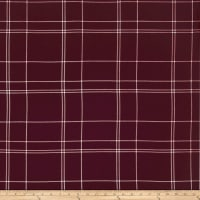 Telio Pebble Crepe Plaid Burgundy