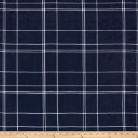 Telio Pebble Crepe Plaid Navy