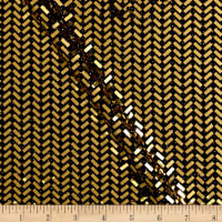 Telio Mermaid Knit Foil Chevron Black/Metallic Gold