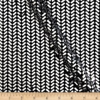 Telio Mermaid Knit Foil Chevron Black/Metallic Silver