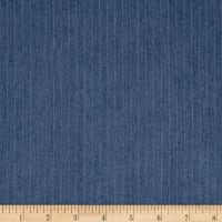 Telio Rayon Denim Stripe Medium Blue