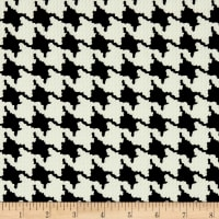 Telio Domino Pique Knit Flocking Print Houndtooth