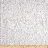 Telio Fantinet Corded Embroidered Lace Mesh Lace Floral White