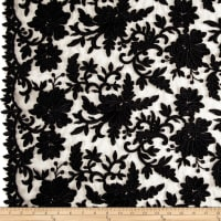 Telio Fantinet Corded Embroidery Mesh Floral Black