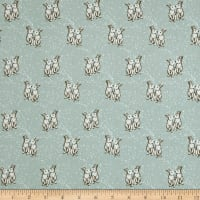 Telio Pebble Crepe Love Bunnies Aqua