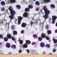 Telio Mirage Jacquard Digital Print Floral White Purple