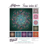 "Hoffman Supernova Spiral 41"" Quilt Kit Meadow"