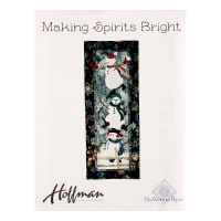 "Hoffman Making Spirits Bright 16"" x 40"" Kit Snow"