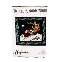 "Hoffman To All A Good Night Christmas 35"" x 33""Kit Multi"
