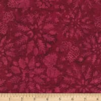 Timeless Treasures Tonga Batik Mini Garnet Wintry Mix Port