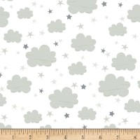 Timeless Treasures Moon & Stars Clouds Flannel Cloud