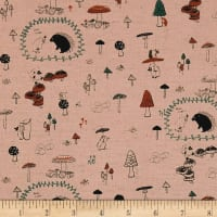 Kokka Bitte Mitte Forest Adventures Canvas Light Pink