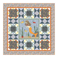 Little Mermaids Quilt Kit Multi
