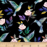 Romance Hummingbirds Black