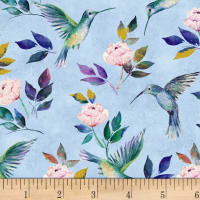 Romance Hummingbirds Blue