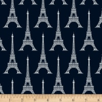 Love From Paris Eiffel Tower Navy