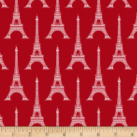 Love From Paris Eiffel Tower Red