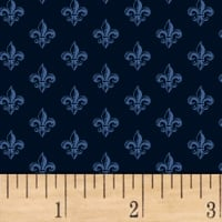Love From Paris Fleur De Lis Navy