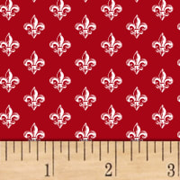 Love From Paris Fleur De Lis Red