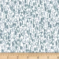 EZ Fabric Minky Alpha Sheep Letter Rummage Stone