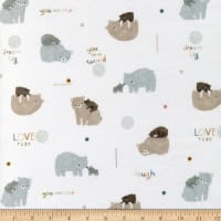 EZ Fabric Minky Bear Love Bear Love Cream
