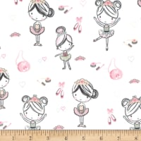 Michael Miller Minky Little Ballerinas Little Ballerinas Pink