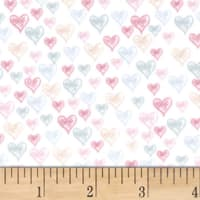 EZ Fabric Minky Little Ballerinas Heart of a Dancer Pink