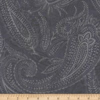 "Paisley 108"" Wide Back Grey"