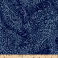 "Paisley 108"" Wide Back Blue"