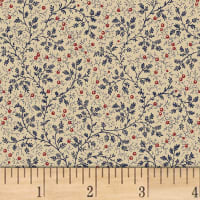 "Berry Vine 108"" Wide Back Navy"