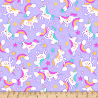 Cubby Bear Flannel Prints Chasing Rainbows Lavender