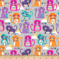 Cubby Bear Flannel Prints Purrfect Grey