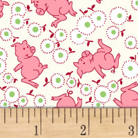 Storybook Ranch Playful Pigs Pink