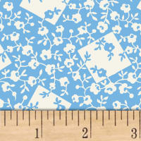 Storybook Ranch Rose Bandana Blue