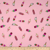 Double Brushed Jersey Knit Popsicle Parade Pink