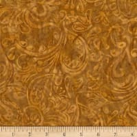 Timeless Treasures Tonga Batik Nutmeg Paisley Nutmeg