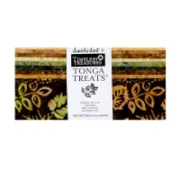"Timeless Treasures Tonga Batik Treat 10"" Squares 20 Pcs Nutmeg"