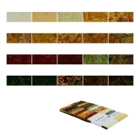 "Timeless Treasures Tonga Batik Treat 2.5"" Strip 20 Pcs Nutmeg"