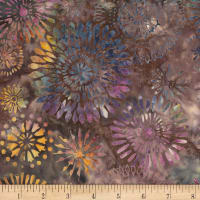 "Timeless Treasures Batik 108"" Wide Back Kaleidoscope Medallion Lush"