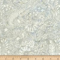 "Timeless Treasures Batik 108"" Wide Back Garden Leaves Graphite"