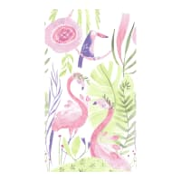 "Dear Stella Pink Paradise 24"" Flamingo Panel White"
