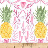 Dear Stella Pink Paradise Pineapples White