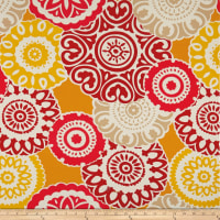 Richloom Solarium Outdoor Terrace Medallion Red