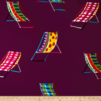 Alexander Henry Beach Chair Canvas Purple