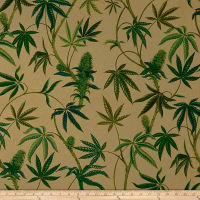Alexander Henry Cannabis Sativa Canvas Dk. Tea