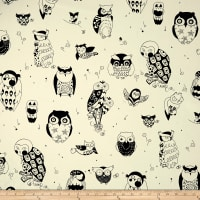 Alexander Henry It's a Hoot Canvas Black/White